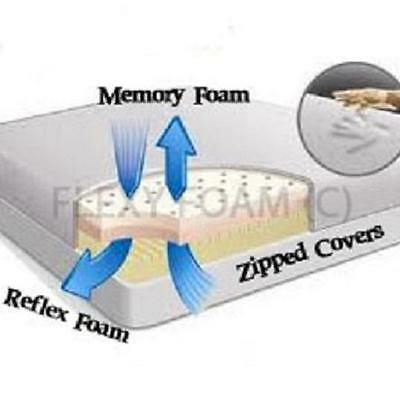 "5Ft King Size Memory Foam Reflex Mattress 8"" Inch 2+6"