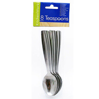Teaspoons - New Stainless Steel Metal Tea Spoon in Professional Cutlery Pack