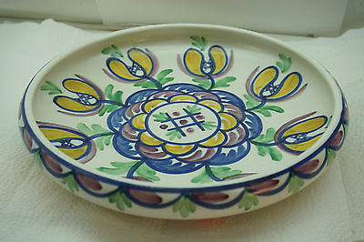 EGERSUND POTTERY BOWL NORWAY NORWEGIAN ART POTTERY FLORAL MULTI COLOR 10in DIA
