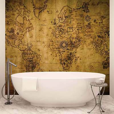 WALL MURAL PHOTO WALLPAPER XXL Sepia World Map Vintage (3600WS)