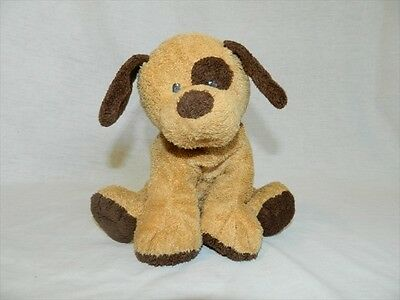 TY Pluffies 2008 plush Brown Puppy  Dog BARKERS sewn eyes Baby Lovey stuffed