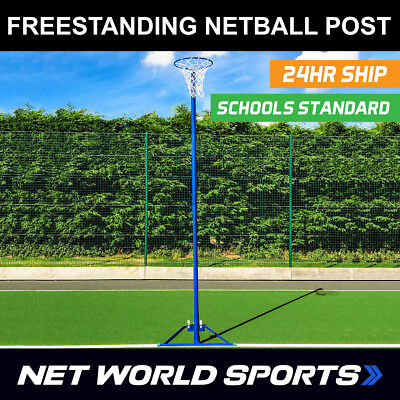 Freestanding Netball Post [School Standard] – Self Weighted with Wheels