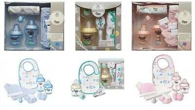 Tommee Tippee Baby Boy/girl/unisex Closer To Nature Gift Set- Pink/blue/bottles