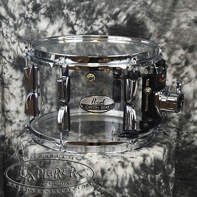 """Pearl 10""""x7"""" Crystal Beat Tom Drum with OptiMount - Ultra Clear CRB1007TC730"""