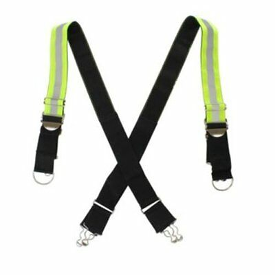 LINE2design Firefighter X-Back Suspenders - Highly Reflective Triple Trim