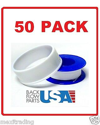 50 ROLLS OF Teflon Tape for Plumbers Air Fitting Thread Sealing PTFE