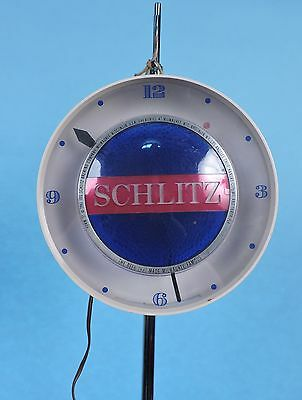 1960'S Vintage Schlitz Beer Light Up Bar Beer Sign W Clock