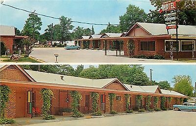 West Monroe Louisiana~Vines Cover Posts~Canary Motel & Trailer Park 1964