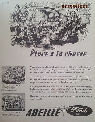 Original Vintage French Ad (1952): Ford Abeille