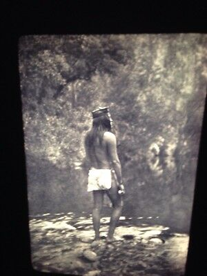 Edward Curtis: Apache Native American Photography 35mm Art Slide