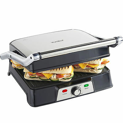 VonShef 2 in 1 Large Panini Toasted Sandwich Toastie Maker Press & Health Grill