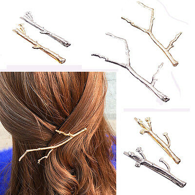 Celebrity Metal Tree Branch Hairpins Gold Silver Hair Clip for Women Bobby Pin