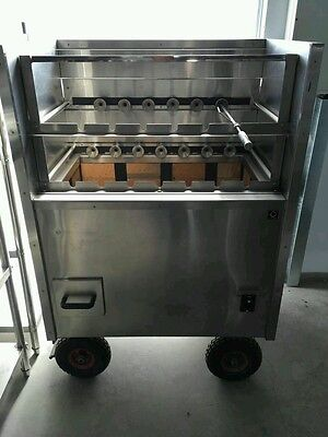 Charcoal Brazilian bbq Kebab Machine full automatic -
