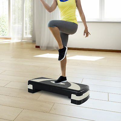 "Soozier 32"" Aerobic Stepper Fitness Cardio Exercise Yoga Riser Adjust 4""- 6""- 8"""