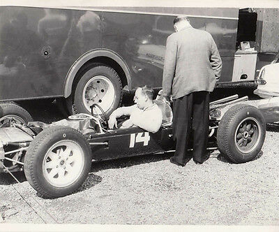 JOHN SURTEES AT SILVERSTONE 1962 IN CAR No.14, PHOTOGRAPH.
