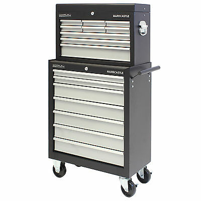 Hardcastle Black 16 Drawer Lockable Metal Tool Chest/box Storage Roller Cabinet