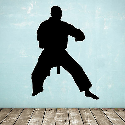 Karate / Taekwondo / Martial Arts Wall Sticker - Standing Silhouette Figure