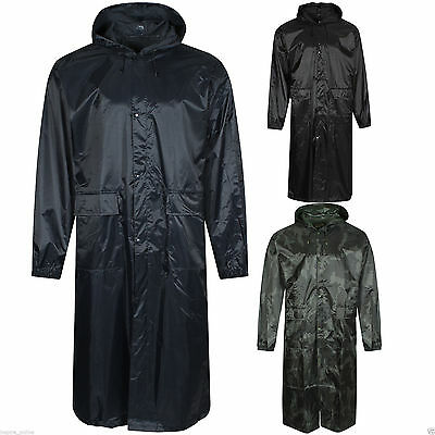 Unisex Portable Plain Poncho Hooded Long Raincoat Waterproof Travel Rainwear New