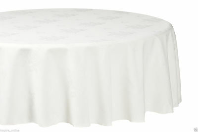 New Damask Flower Rose Jacquard Round Table Cloth Party Wedding Event Tablewear
