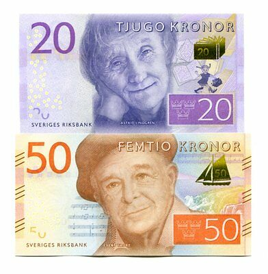 Sweden 20 50 Kronor Nd(2015) P-New Unc
