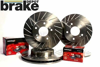 Ford Focus ST170 Brake Discs Front Rear Performance Slotted 40G Mintex Pads