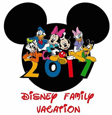 Disney Minnie Mickey Mouse Vacation 2017  T-Shirt Iron On Transfer
