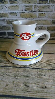 Post Toasties Corn Flakes Cereal Wide Base Coffee Cup No Slip Mug Advertising