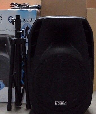 Edison M2000+Bluetooth Capable Multi-Function Speaker+Stand+Mic DEAL OF THE DAY