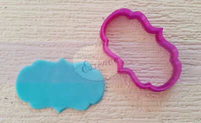Name plaque cookie cutter Rounded Less Wide fondant cake cupcake UK seller
