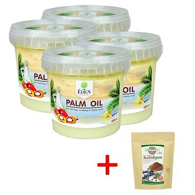 Palm Oil, Palmöl 4 x 1000ml + Gratis Palmöl 500ml