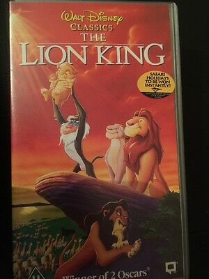 VHS Walt Disney Classic The Lion King Video Rare 1995 With Inserts