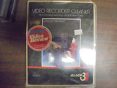 Allsop Video Recorder Cleaner Ultraline Twin Pack