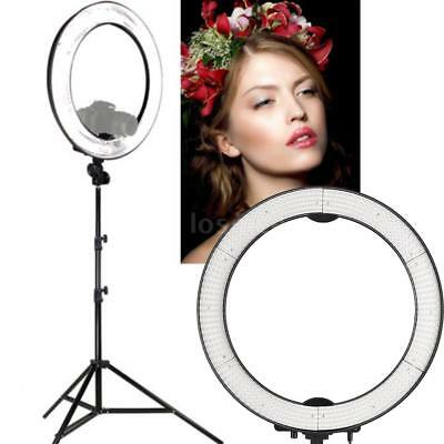 Andoer 5500K Dimmable Photographic Studio Ring Light 40W 600 Leds + Carry Bag US