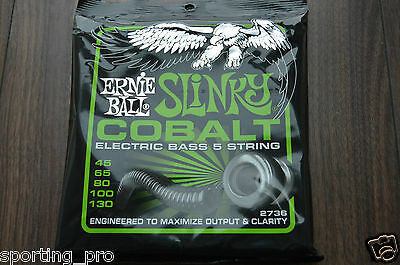 Ernie Ball Cobalt Slinky 5 String Electric Bass Strings (2736)