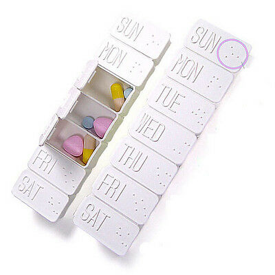 Storage Box Pill Tablet Organizer Container Medicine 7 Day Case Holder Weekly