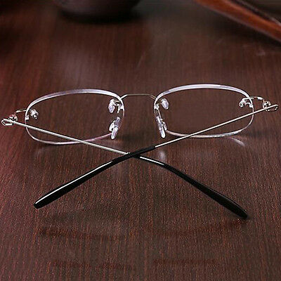 Rimless Reading Glasses 1.0- 4.0 Reader Eyeglasses Clear Lens Frameless Foldable
