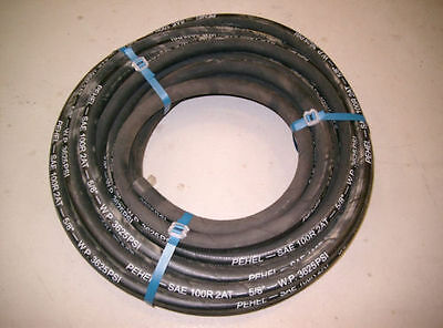 "Hydraulic Hose 5/8"" Two Wire Braid 3625 PSI 20 Metres"