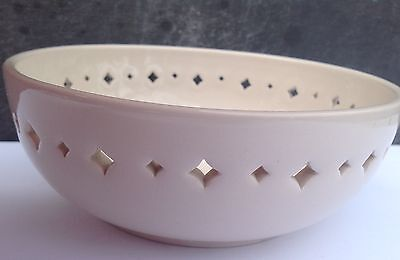 Laura Ashley pierced creamware dish
