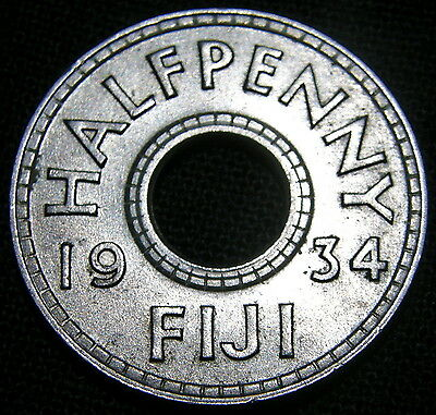 1934 Fiji, Halfpenny - Uncirculated Condition