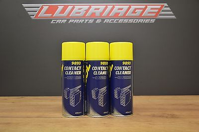 3x 450ml  Electrical Contact Cleaner Spray Aerosol 3can Mannol German Hi Spec