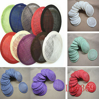 "4.7"" Round Sinamay Hat Fascinator Base Millinery Craft Supply B067"