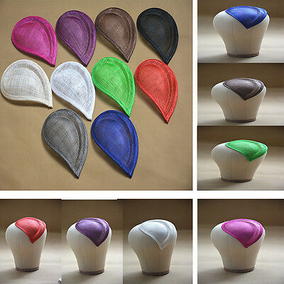 "6.7""x4.5"" Teardrop Sinamay Hat Fascinator Base Millinery Craft Material B064"