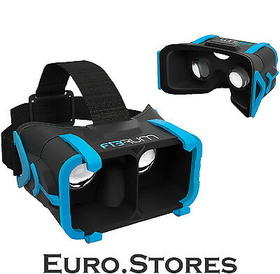Fibrum VR Glasses Mobile Virtual Reality For 3D Movies/Gaming Black Genuine New