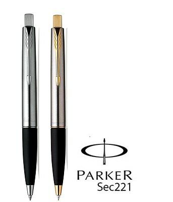Parker Frontier Stainless Steel Ball Pen - Chrome & Gold