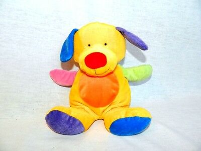 """2005 TY Pluffies 9"""" plush Multicolour PRETTY PUPPY DOG stuffed Infant baby Lovey"""