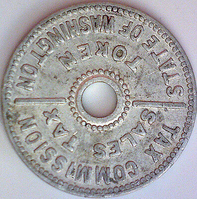 1935 State Of Washington Sales Tax Token