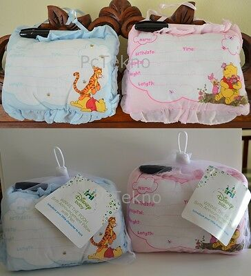 6 Disney Baby Winnie The Pooh Blue/Pink Birth Announcement Hang Pillow Boy/Girl