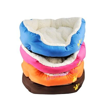 Soft Warm Fleece Puppy Pet Dog Cat Bed Basket Nest Mattress Basket Cushion UK