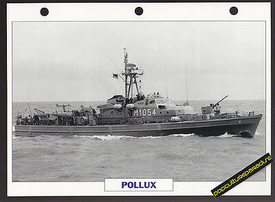 POLLUX German Minesweeper Ship PICTURE DATA SPEC SHEET