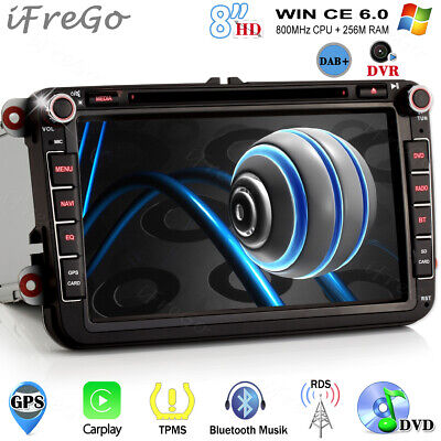 "8"" HD Autoradio Navigatore DVD USB GPS Radio 3G Per VW GOLF 5 PASSAT Sharan POLO"